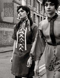 Bee, Grace & Lily by Yelena Yemchuk for Vogue Italia January 2015