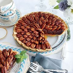 Salted Caramel-Chocolate Pecan Pie.  Felt a bit weird trying a salted dessert, but it really works.