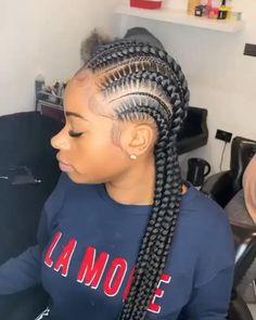 Cute Box Braids Hairstyles, Braids Hairstyles Pictures, Braided Hairstyles For Black Women, African Braids Hairstyles, Baddie Hairstyles, Kid Hairstyles, Cornrows Braids For Black Women, Braids For Black Hair, Girls Braids