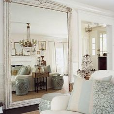 Hang a mirror opposite any space you want to look bigger such as the bedroom or living room. Or place them strategically around windows so that they reflect the natural light and give you a brighter space.
