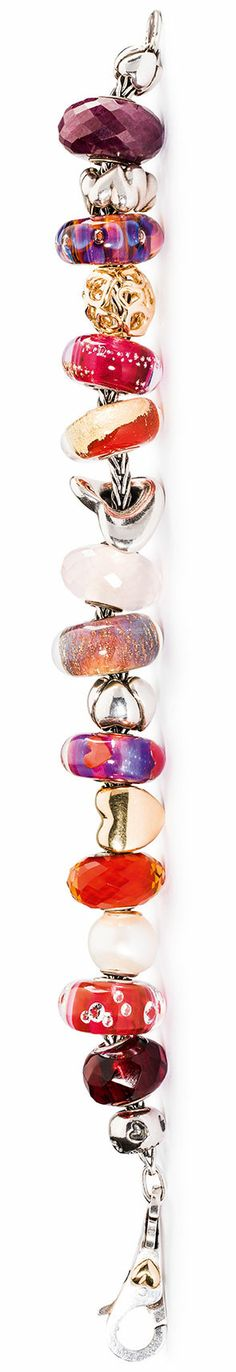 Trollbeads 2014 Valentine's Day Bracelet. A beautiful selection of Trollbeads made up for Valentines day.