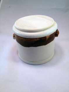 White and Brown French Butter Keeper by FutureRelicsGallery, $35.00