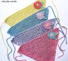 crochet lace head kerchief
