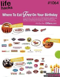 Where to go for free on your birthday. Careful though because Texas Roadhouse sings to you!!