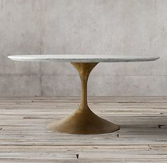 Aero Marble Round Dining Table