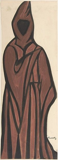 Sergey Sudeykin (Russian,1882–1946). Death wearing a brown robe, first half 20th century. The Metropolitan Museum of Art, New York. Gift of William S. Wasserman, 1965 (65.715.14(2)) #Halloween