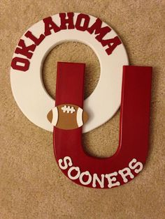 Wooden OU Oklahoma Collegiate Sports Letter Room Decor - Norman Oklahoma - sports theme - man cave - boy room decor - football fan on Etsy,