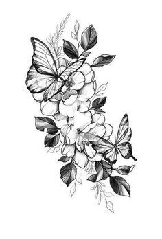 Flowers Tattoo Leg Floral 20 Ideas #tattoo #flowers #tattoodesignsmen #tattooideasformen #legtattoos