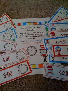 Learning to Tell Time Printable