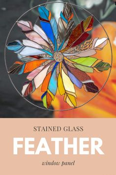 This adorable stained glass round suncatcher was created for onw of our customers! Custom Stained Glass, Bright Homes, Fairy Garden Accessories, Window Panels, Suncatchers, Handicraft, Feathers, Etsy Seller, Creative