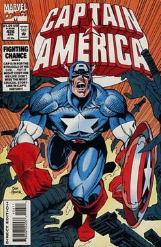Cover for Captain America (Marvel, 1968 series) Captain America Comic Books, Marvel Captain America, Marvel Comic Books, Comic Book Heroes, Marvel Comics, Marvel Fan, Marvel Heroes, Jack Kirby, Graven Images
