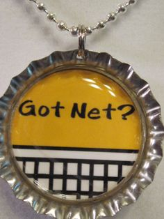 Got Net bottle cap necklace