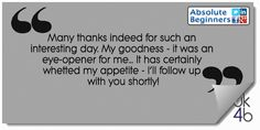 Another positive testimonial from one of our Using Social Media for Business: Absolute Beginners training course, which we used to help us introduce the new full-day seminar that we now do! Using Facebook For Business, Social Media Training, Email Newsletters, Training Courses, Lead Generation, Email Marketing, Helping People, Get Started, Positivity