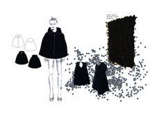 Fashion Portfolio - fashion design drawings & fabrics; fashion student collection development // Lydia Hill