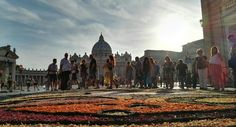 St.Peter's square #ss.peter&paul #rome #flower #streetart #colors #cupolone
