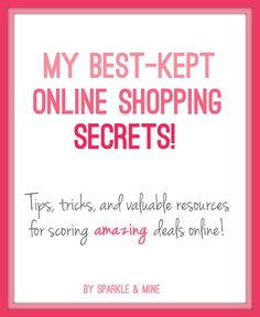 Tips, tricks, and valuable resources for scoring deals at all your favorite online retailers! Be sure to check out the section on swagbucks, it's my new favorite site! Pin now, shop later!