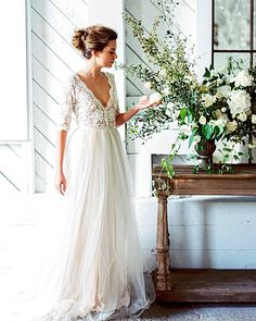 Bridal Inspiration: Country Style Wedding Dresses ❤ See more: http://www.weddingforward.com/country-style-wedding-dresses/ #wedding #dresses #country