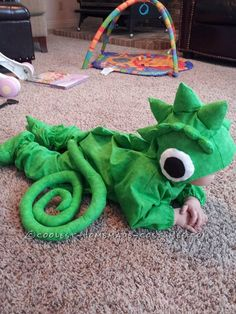 Cutest Baby Pascal (Chameleon) Toddler Costume… Coolest Halloween Costume Contest