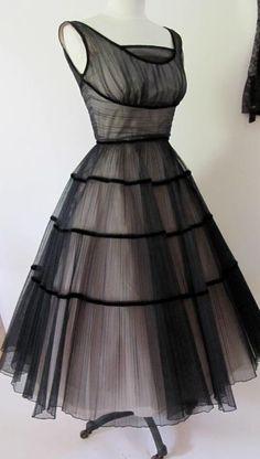Vintage Cocktail Dress ~ 1950