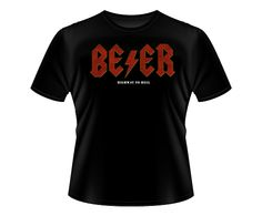 AC/DC Beer - Highway to Hell Camiseta T-Shirt Tee