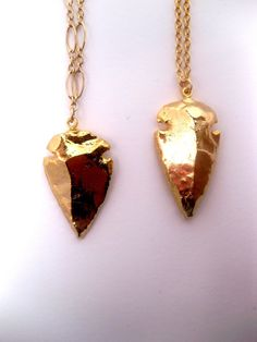 Style 2 Arrowhead Necklace Dipped In 24k by FashionCrashJewelry, $62.00