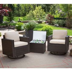 PLUSH WICKER RESIN PATIO FURNITURE SET | Wicker Patio Furniture | Pinterest  | Resin Patio Furniture, Patio Furniture Sets And Furniture Sets
