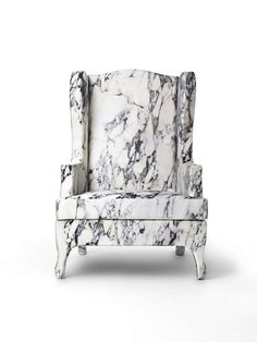 Marble furniture - The cover is made out of printed silk and viscose while the structure is made from poplar plywood and soft polyurethane.