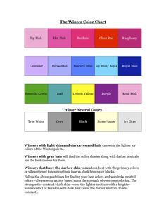 Your Seasonal Color Winter Chart....Navy Blue should be on there too