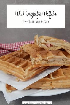 Waffles, Breakfast, Food, Savory Waffles, Ham And Cheese, Grated Cheese, Cool Recipes, Nice Breakfast, Waffle Iron