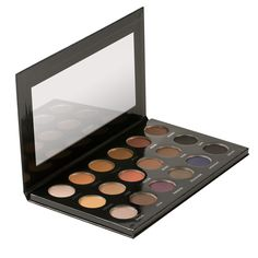 An 18-colour eyeshadow palette.Designed by celebrity makeup artist Etienne Ortega, PUR Pro X Etienne Eyeshadow Palette contains a selection of neutral and bold colours in both matte and shimmer finish