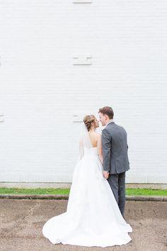 Elegant Blue and Gray Wedding for $12K Budget Wedding, Wedding Planning, David's Bridal Veils, Couple Shots, Blush Flowers, Gray Weddings, Groom Attire, Our Wedding Day, Weddingideas