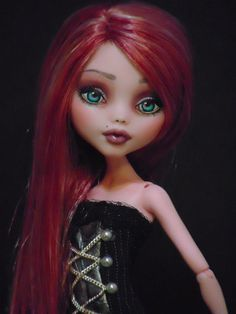 ~ Elisabetta ~ OOAK Monster High Draculaura Repaint Doll ~ by Bordello ~