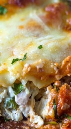 Creamy Chicken, Spinach & Cream Cheese Lasagna [saving for cream cheese mix, will use variation for vegetable lasagna ]