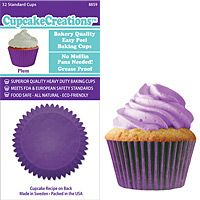 Plum Purple Cupcake Baking Cup Liners 32 Count by Cupcake Creations Cupcake Creations