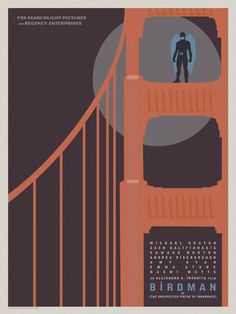 Birdman Posters Put the Film's Hero in 10 North American Cities -/Film Minimal Movie Posters, Cool Posters, Film Posters, Oscar Winning Films, Superhero Poster, Film Images, Alternative Movie Posters, About Time Movie, Typography Poster