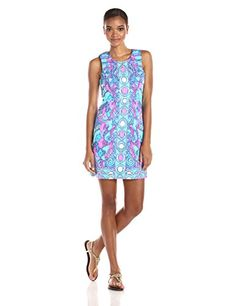 Lilly Pulitzer Women's Abigail Shift Dress, Multi/Sea Jewels, 14 Lilly Pulitzer http://www.amazon.com/dp/B013ILTWVK/ref=cm_sw_r_pi_dp_4Frswb1159ZP8