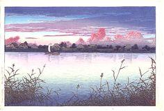 川瀬巴水による「浦安市の初秋」
