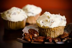Maple Pecan Cupcakes with Butter Pecan Buttercream Frosting for Paula Deen (from Cupcake Project - cupcakeproject.com)