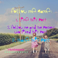 LET'S PLAY A GAME!  Follow me game  1. LIKE this post 2. FOLLOW me and the poshers who liked this post 3. SHARE this post  Other