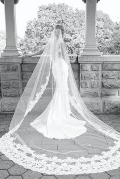 Learn about bridal veil styles and which will work best for your wedding gown and hair style. Bridal veil color should match your dress or be lighter. Bridal Gowns, Wedding Gowns, Our Wedding, Dream Wedding, Lace Wedding, Wedding Bride, Mermaid Wedding, Wedding Stuff, Wedding Dress Veil