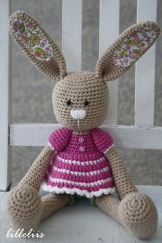 Frillypants Bunny crochet toy by lilleliis on Etsy, $55.00