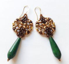 Jade - Grüne Jadeohrringe - ein Designerstück von tizianat bei DaWanda
