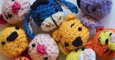 Krawka: Winnie the Pooh and friends - minis crochet free pattern for mini Pooh, cute piglet, little rabbit, sad eeyore, sweet heffalump. Tsum-tsum style