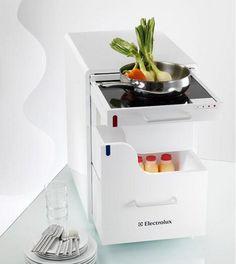 mini kitchenette layout