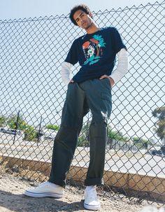 Black Men Street Fashion, Mens Grunge Fashion, Men Street Wear, Mens Streetwear Fashion, Grunge Men, Guy Fashion, Fashion Ideas, Mens Fashion, Cargo Pants Outfit Men