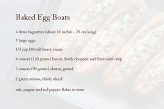 baked egg boats recipe ingredients