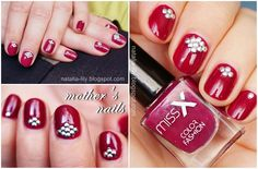 natalia-lily: Beauty Blog: Paznokcie mamy: Miss X nr 16 i okrągłe srebrne ćwieki z BPS