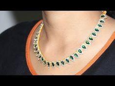 Como fazer um colar com fio de seda, Kundan, Pedras | Por horas de elaboração - YouTube