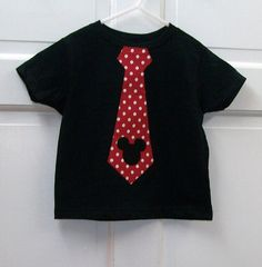 Mickey Tie T Shirt with Mickey Head Made To by KadeesKidsKlothes, $12.99