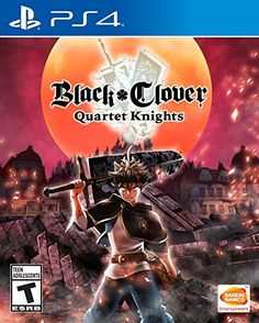 Used Black Clover Quartet Knights Sony PlayStation 4 Japan Import F/S Ps4 Black, Game Black, Playstation Games, Ps4 Games, First Video Game, Video Games, Manga Anime, Knight Squad, Knight Games